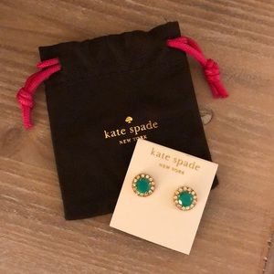 Kate Spade Turquoise Green Studs